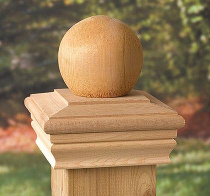 6x6 Newport Ball Post Cap