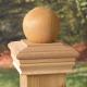 4x4 Newport Ball Post Cap
