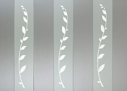 """Leaf Frosted Glass Baluster - 32"""" - 3 pack"""