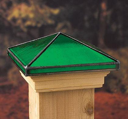 6x6 Jewel Emerald Post Cap