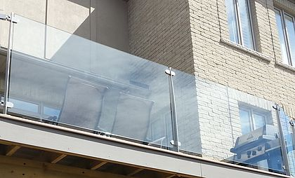 """Invisirail 38.5"""" x 49.865"""" Glass Railing Panel (10mm) - J"""