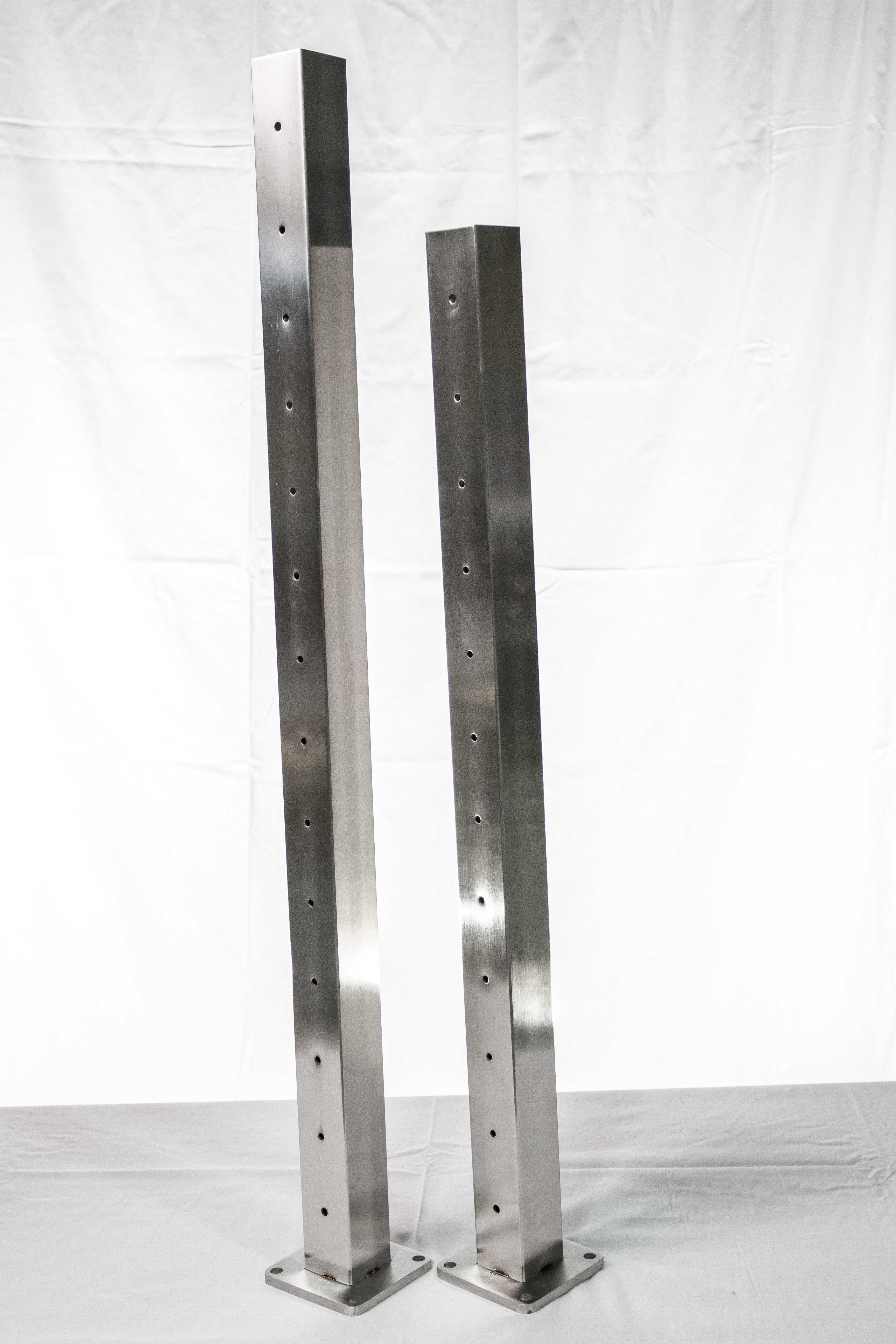 """Cable Rail Posts 36"""" x 2.363"""" - Caps and Skirts Included"""