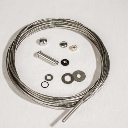 Cable Rail Kit (5'-50') - Cap and Bushings Included