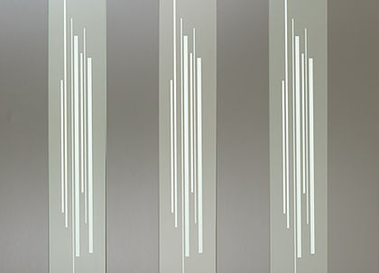 "Contemporary Frosted Glass Baluster - 32"" - 3 pack"